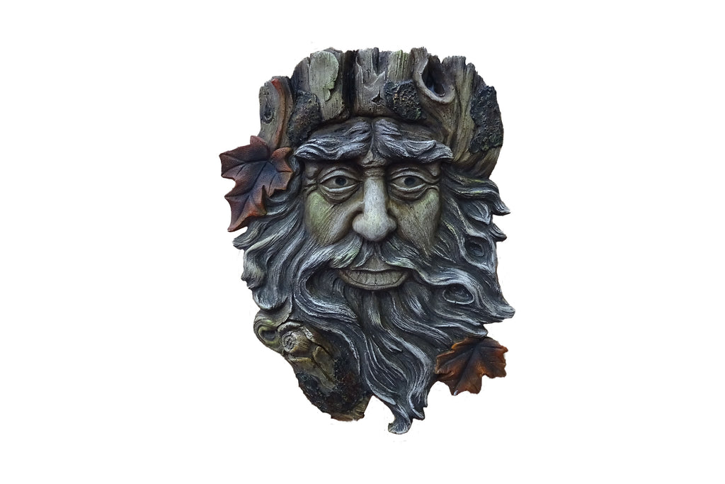 Garden Wall Art Bearded Green Man Brown
