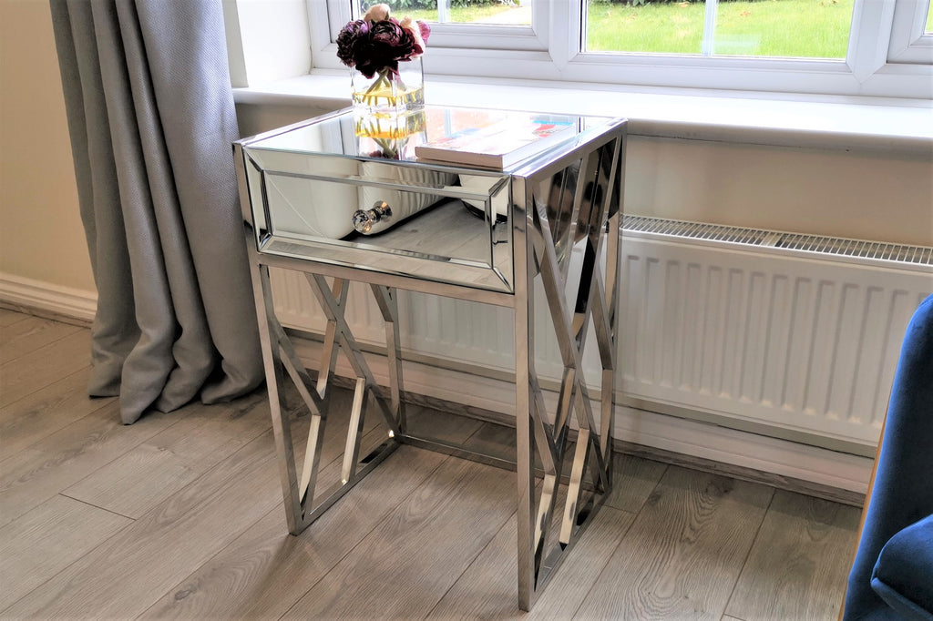 Howard Mirrored Bedside Table