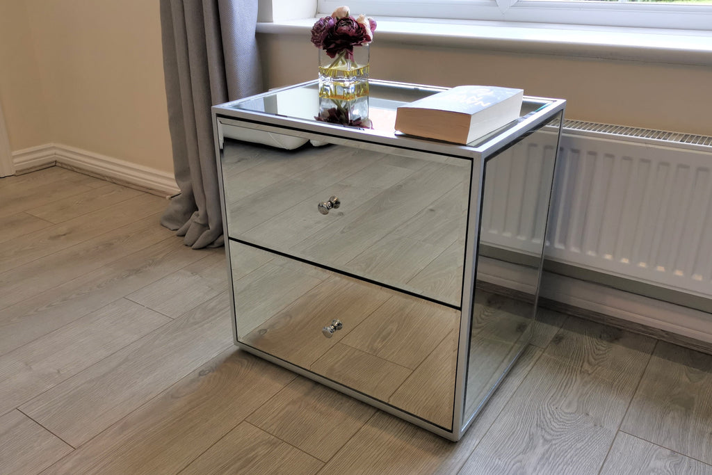 Chelsea Mirrored Bedside Table