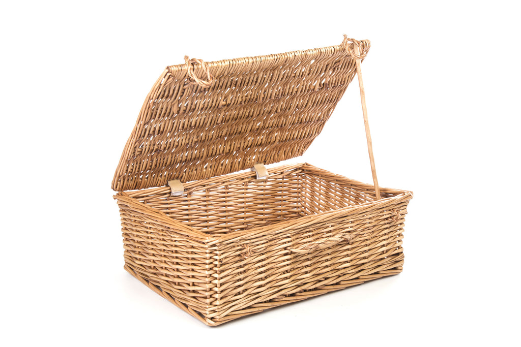 Large Traditional Wicker Gift Hamper Basket-56cmx 37cm x 20cm