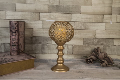 Marrakesh Brass Goblet Candle Holder - Height 32cm