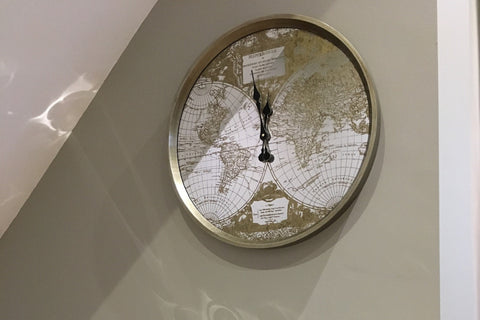 Explorers Globe Wall Clock