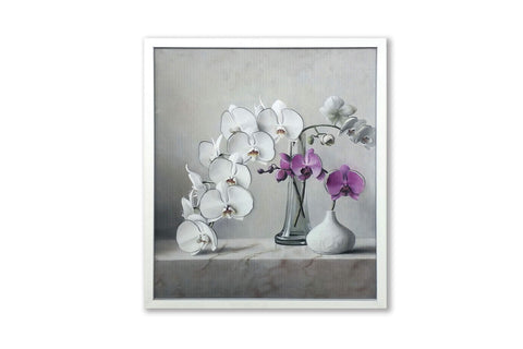 Rectangular Framed 3D Vintage Orchid Artwork
