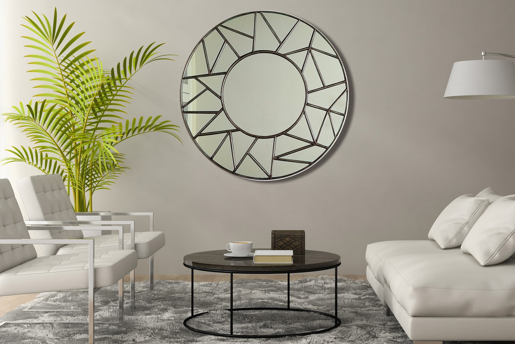 Jigsaw Bevelled Round Mirror
