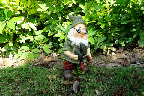 Garden Ornament Stevie The Gnome With Scissors