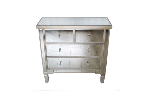 Lila Mirrored Chest of Drawers
