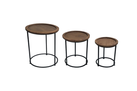 Scandi Round Nest of Tables (Set of 3)