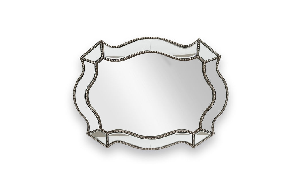 Florence Beaded Bevelled Curved Mirror