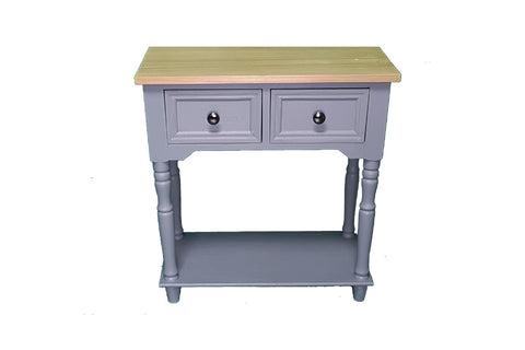 Slate Grey 2 Drawer Console Table  - Height 64.5cm