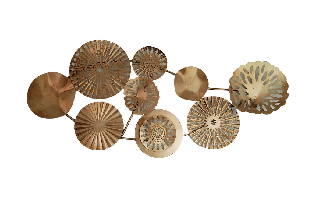 Mixed Metallic Circular Cluster Wall Plaque