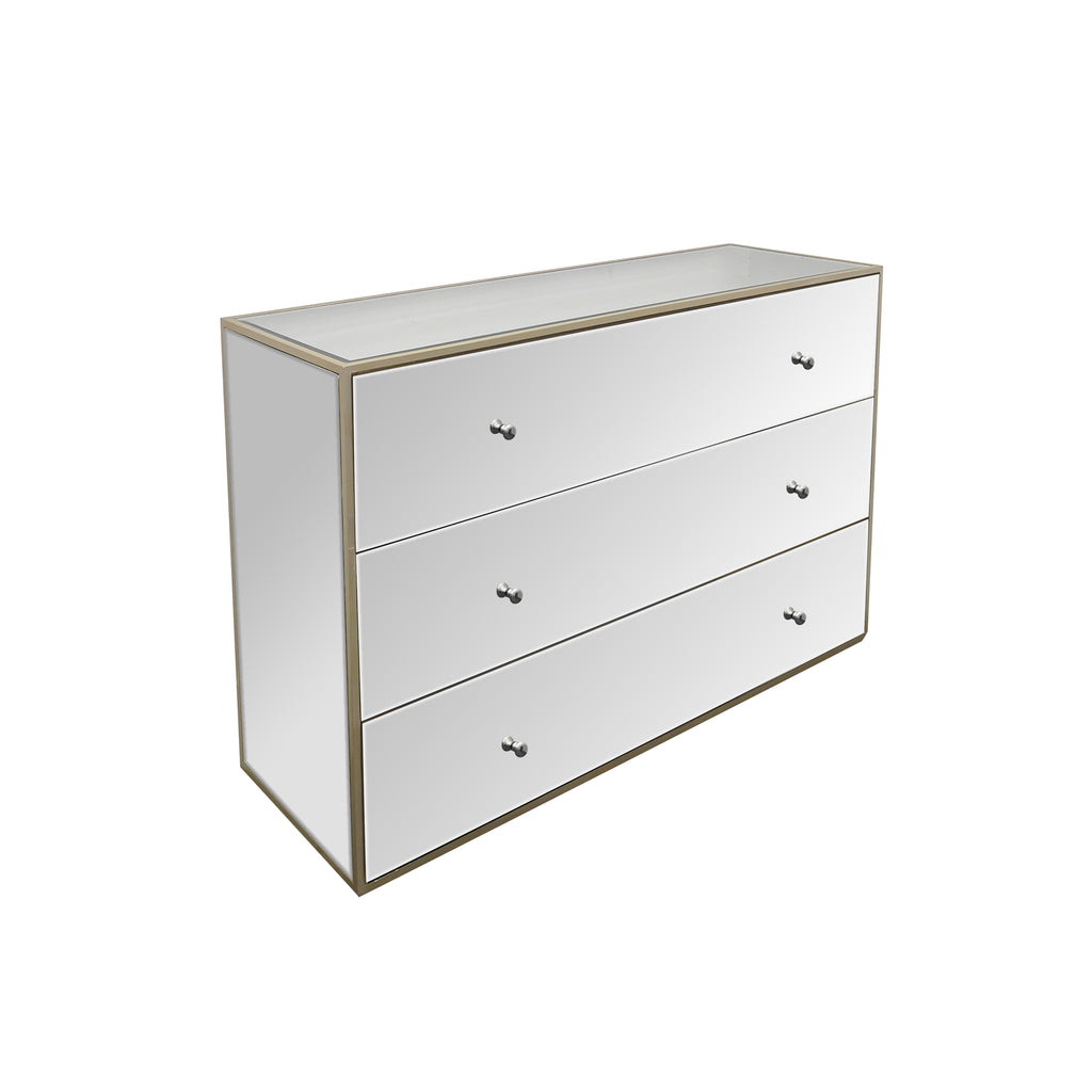 Chelsea Mirrored Chest Of Drawers
