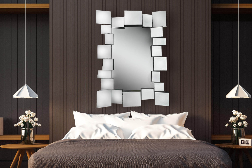 Geometric Large Squares and Rectangles Wall Mirrror