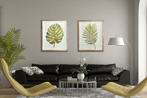 Botanica Green Fern Leaf Framed Art Print-48cm x 39.5cm