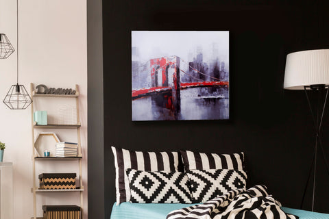 Canvas NY Brooklyn Bridge Canvas Art Print- Width 60cm