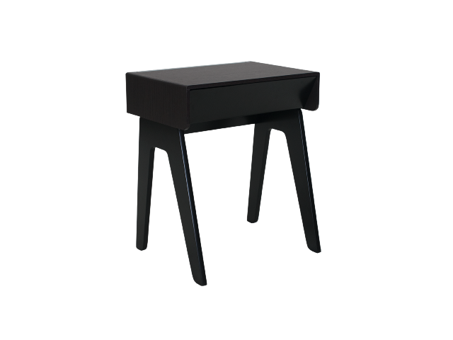 Black Smart Night table- Curvilux
