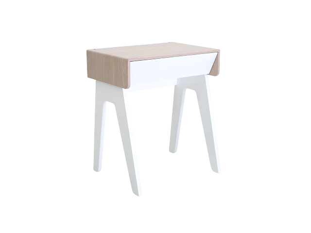 White smart night table - curvilux