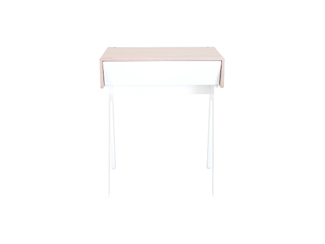 white nightstand with charging station - curvilux