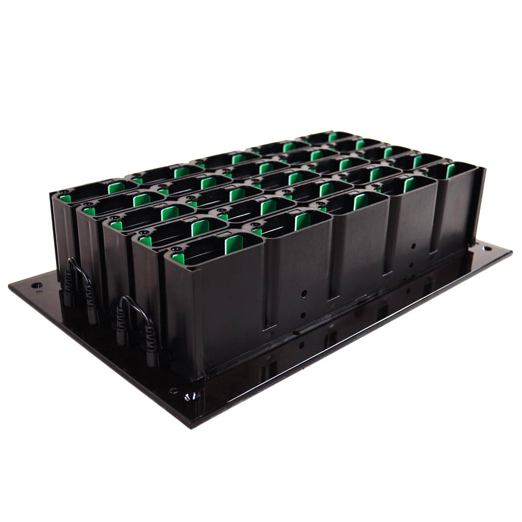 An image of the LRS 25-slot Staff Pager Charging Base (CH-R9-25) for server and wait staff paging notification and when food orders are ready.