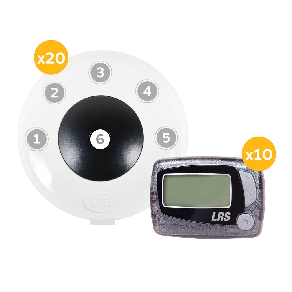 LRS Pronto Six-Button Push-for-Service System (1, 5, 10, 15 and 20 kit sizes available)
