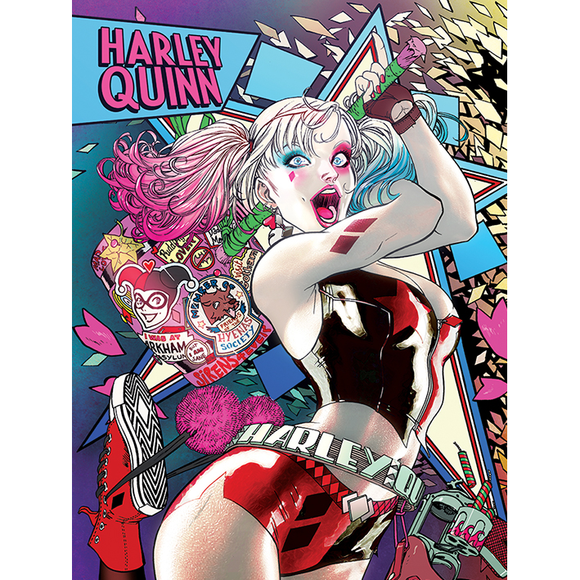 Batman - Harley Quinn Neon Wall Art