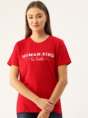 Human.kind - Be Both Red T-Shirt