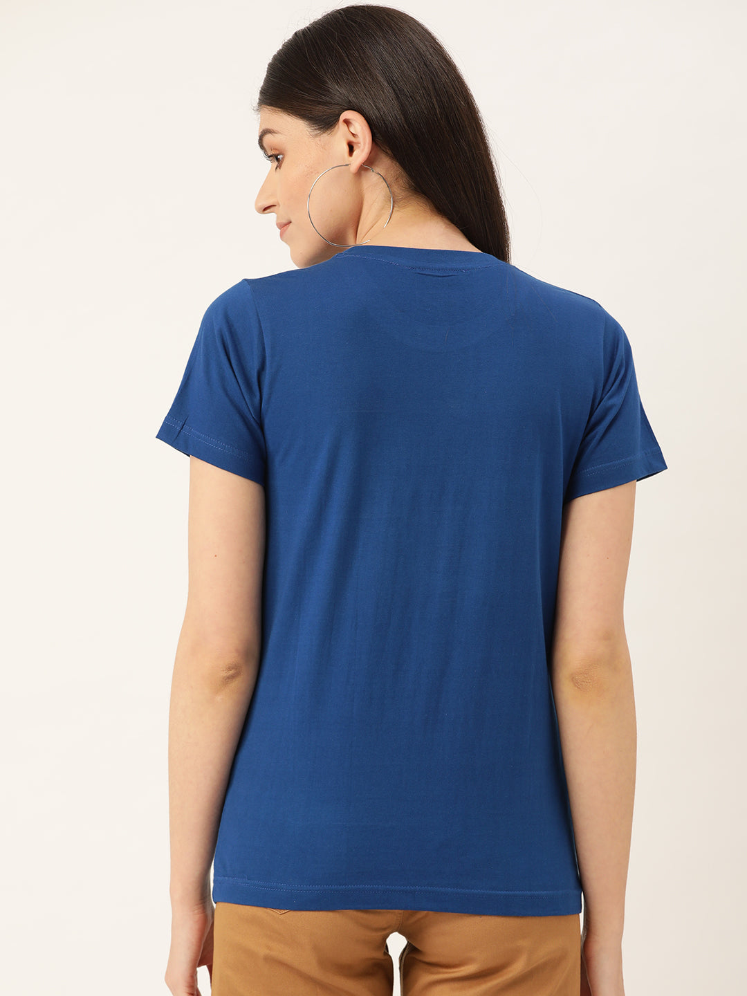 Karma Women Blue T-Shirt - YOLOCLAN