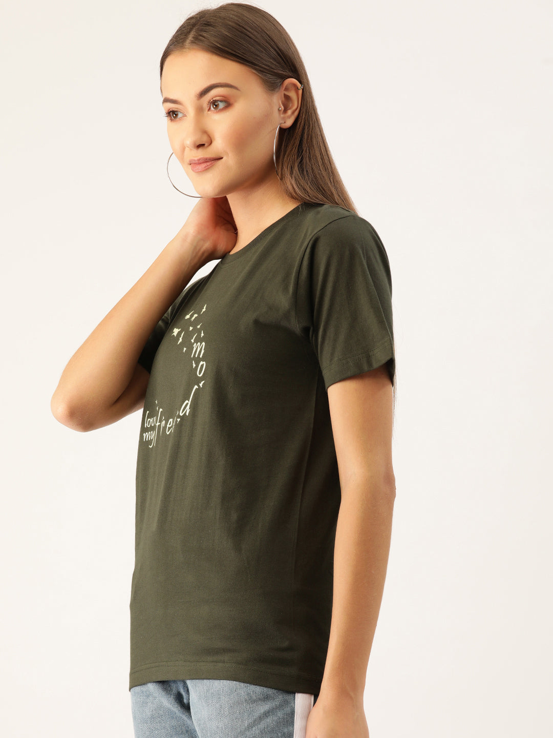Freedom Women Green T-Shirt - YOLOCLAN