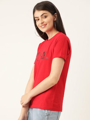 Moon and Back Red T-Shirt
