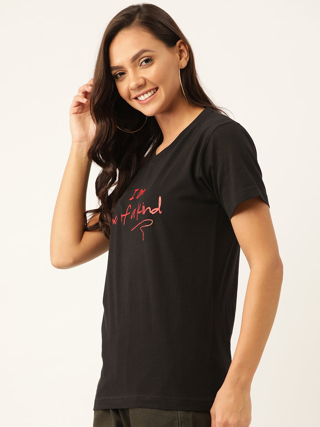 One of a kind Women Black T-Shirt