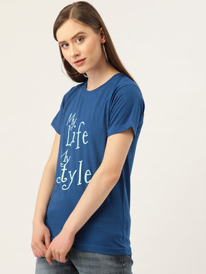 My Life My Style Royal Blue T-Shirt