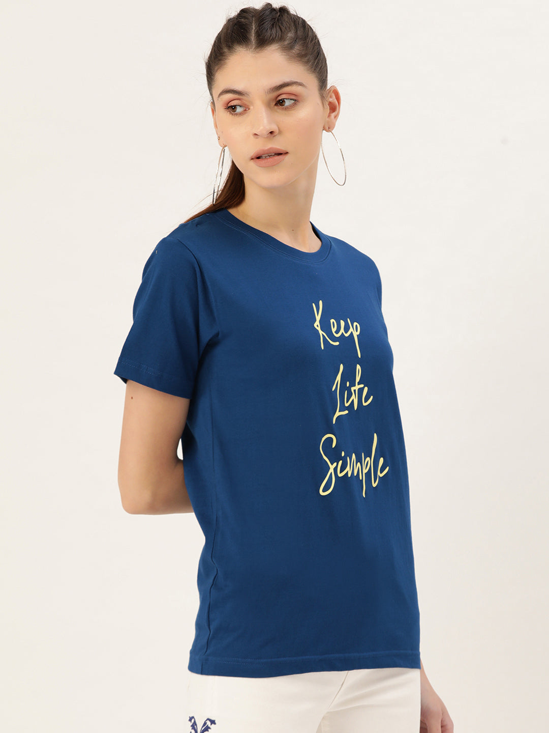 Keep Life Simple Blue T-Shirt