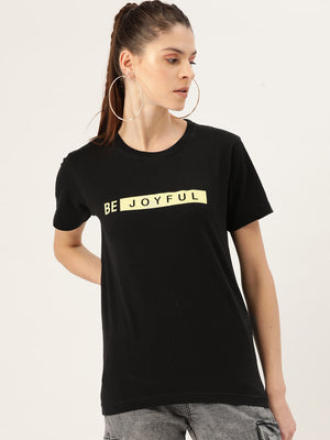 Be Joyful Black T-Shirt