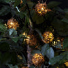 Image of Bright Tunes Indoor/Outdoor LED  Decorative Rattan Globe String Lights with Bluetooth Speakers Alt 2