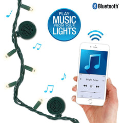 Bright Tunes Indoor/Outdoor White LED String Lights with Bluetooth Speakers