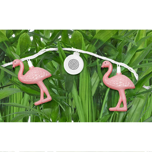 Bright Tunes Indoor/Outdoor Pink Flamingo LED String Lights with Bluetooth Speakers Alt 2