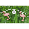 Image of Bright Tunes Indoor/Outdoor Pink Flamingo LED String Lights with Bluetooth Speakers Alt 2