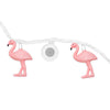 Image of Bright Tunes Indoor/Outdoor Pink Flamingo LED String Lights with Bluetooth Speakers