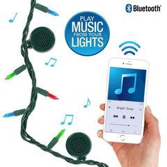 Bright Tunes Indoor/Outdoor 3 color Multi Colored Incandescent String Lights with Bluetooth Speakers