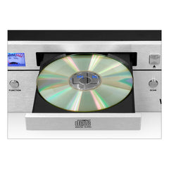 Victrola Bluetooth CD stereo system, Silver