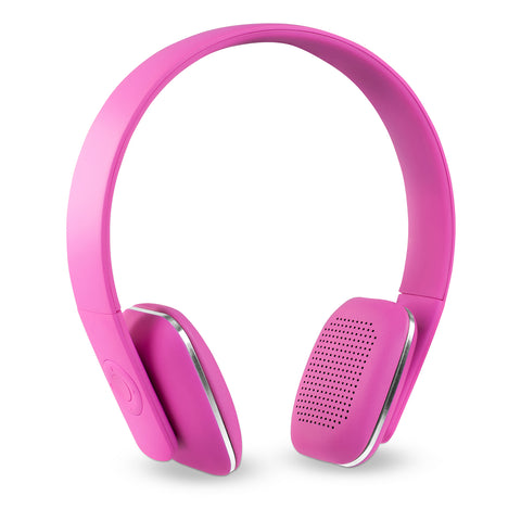 Innovative Technology Rechargeable Wireless Bluetooth Headphones, Pink