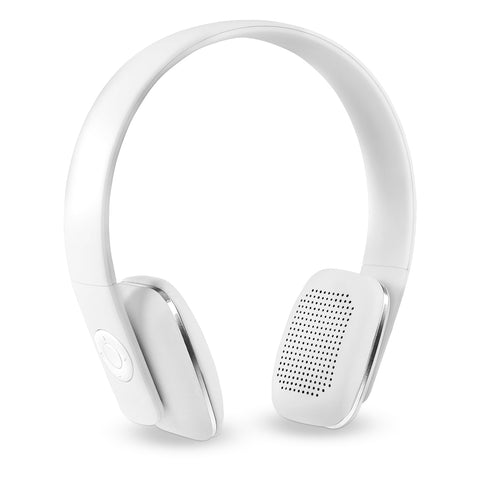 Innovative Technology Rechargeable Wireless Bluetooth Headphones, White