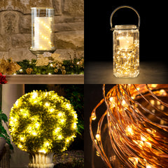 Innovative Technology Indoor/Outdoor Warm White LEDS Bendable Copper Wire Lights