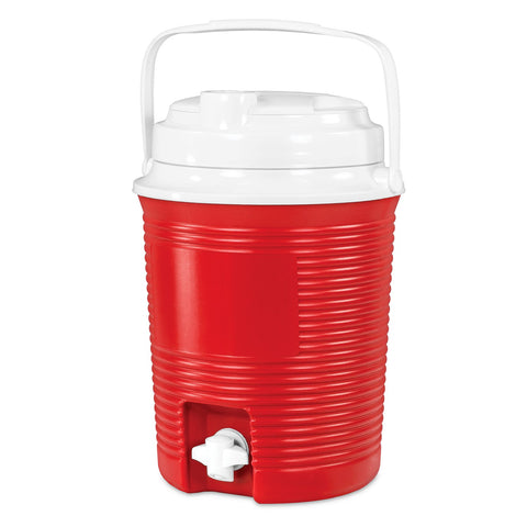 Rechargeable Bluetooth Waterproof  Speaker Cooler with Built-in Battery Charger, Red Main