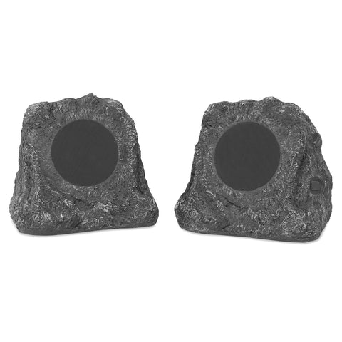 Innovative Technology Pair of Wireless Waterproof Rechargeable Bluetooth Outdoor Rock Speakers. Main