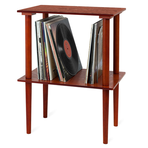 Victrola Wooden Stand with Record Holder, Mahogany Alt 2