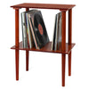 Image of Victrola Wooden Stand with Record Holder, Mahogany Alt 2