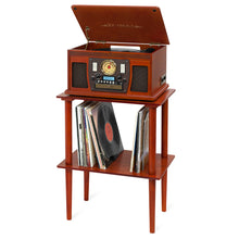 Victrola Wooden Stand with Record Holder, Mahogany Alt 1