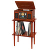 Image of Victrola Wooden Stand with Record Holder, Mahogany Alt 1