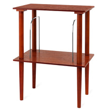 Victrola Wooden Stand with Record Holder, Mahogany Main