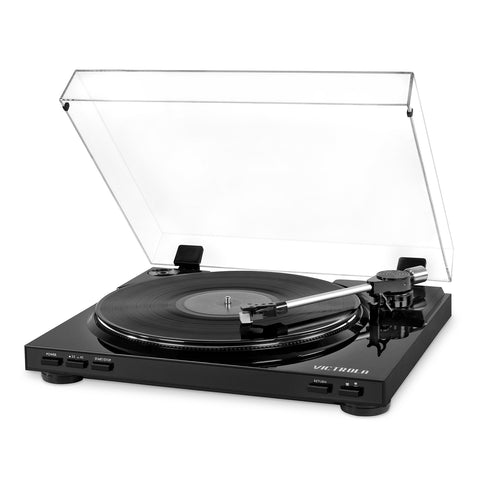 Victrola Pro USB Record Player with 2-Speed Turntable and Dust Cover